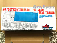 20FT Container  Suit For 1/14 Scale Metal Kit Truck Semi -trailer Tractor Tamiya