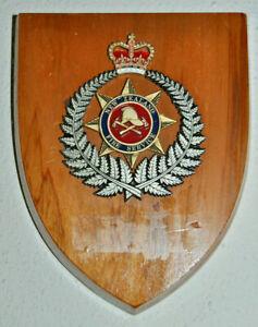 New Zealand Fire Service plaque shield NZ