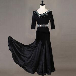 Latin Dance Dress Salsa Tango Cha cha Ballroom Rhinestone Competition Dress F498