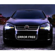 *VW GOLF MK4 MK5 COOL WHITE LED NUMBER PLATE LIGHT & SIDELIGHT BULBS ERROR FREE