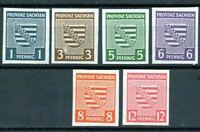Alemania / Germany / serie completa año 1945 Saxe yvert nr.1/6 sindentar  nueva