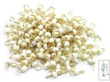 50Pcs White Gold Tone Soldering PCB Board Breadboard Test Point Pin New