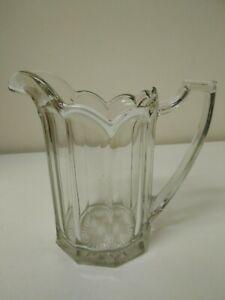 Vintage old art deco glass jug solid heavy weighs 1.5kg