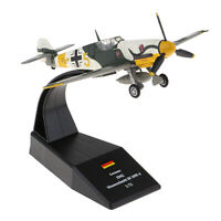 1/72 Diecast Military Fighter Bf-109 / Me-109 Airplane Helicopter DIY Home Decor