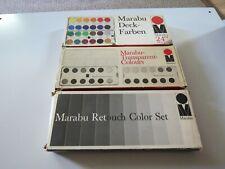Three Vintage Marabu Opaque Watercolor Sets