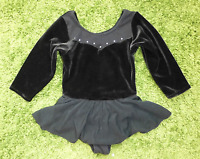FREESTYLE Girls VELVET Blk Pink SEQUIN GYMNASTIC LEOTARD DANCE BALLET 5 6 7 8 10