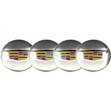 4pcs 56mm Chrome Silver Car Wheel Center Hub Caps Sticker for Cadillac ATS CTS