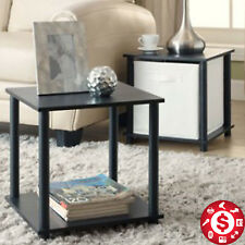 2Pcs Chair Side End Table Tray Night Stand Book Holds Storage Cubes Living Room