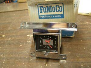 OEM Ford 1966 Galaxie 500 Dash Clock Assembly XL LTD Trim nos