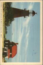 Ste. Marthe de Gaspe Quebec Lighthouse Postcard