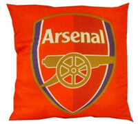 ARSENAL F.C OFFICIAL PRODUCT FILLED CUSHION RED CREST FANS SCATTER 40cm x 40cm