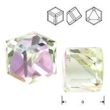 Swarovski 4841 Cube 6 mm Crystal VL Z (price for 1 piece)