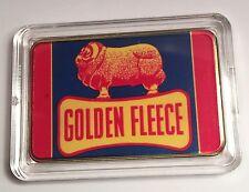 """""""Golden Fleece"""" Colour Printed HGE 999 24k Gold Ingot/token oil/petrol"""