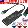 USB 3.0 TO M.2 NGFF SSD SATA External Enclosure Storage Case Adapter Aluminium