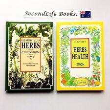 HEMPHILL'S HERBS & HERBS FOR HEALTH ~ John & Rosemary. Cultivation & Usage. H