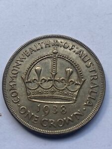Coins Australian 1938 Crown 92.5%