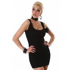 sexy Mini Basic Stretch Soirée Vêtements clubbing Robe le petit Noir M 38
