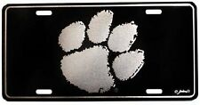 CLEMSON UNIVERSITY TIGERS ELITE CAR TRUCK TAG LICENSE PLATE BLACK SILVER SIGN