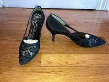 1960's Black Pumps - The American Girl Shoe - Size 8Aa, Lace, Pointed - As Is