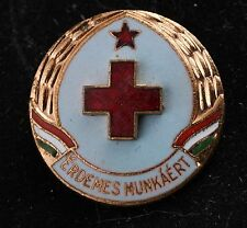 Hungary Hungarian Red Cross For Meritorious Work Merit Badge Medal Communist