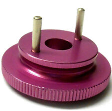 L4269 1/10 or 1/8 Scale RC Nitro Engine 2 Shoe Pin Clutch Flywheel Alloy Pink