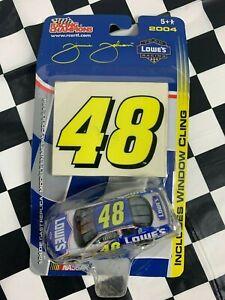 Jimmy Johnson  NASCAR 1/64 Car Winners Circle 2004 with Window Cling #48!