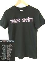 Taylor Swift 1989 World Tour Neon Concert Dates S L XL Black Shirt NEVER WORN