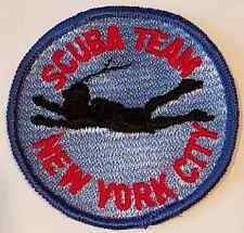 NYPD New York City Police Department Scuba Team Cloth Patch