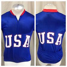 Vintage Canari Team USA Olympics (Medium) 1/2 Zip Up Cycling Race Wear Jersey