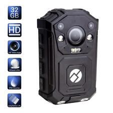 R-Tech HD 1080P+ up to 1296P IR Police Body Worn Video Camera with Audio - 32GB