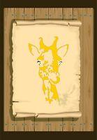 Giraffe Head & Neck  Stencil 350 micron Mylar not thin stuff #Giaff01