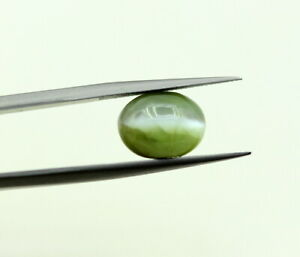 6.70 Ct Loose Oval Cabochon 10 8 mm Natural Chrysoberyl Cats eye Certified Gem