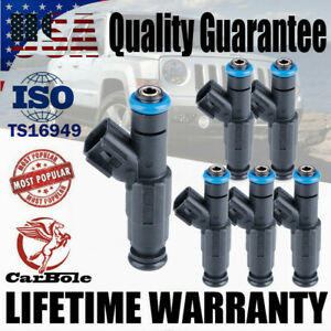 6x Upgrade Fuel Injectors For 1999-2004 Jeep TJ Grand Cherokee Wrangler 4.0L