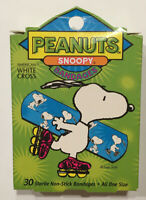Vintage Plastic Peanuts Snoopy Strips ONE SIZE Bandages American White Cross USA