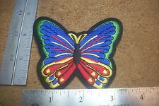 "Biker patch vest embroidered patch BUTTERFLY  3""  X 3 1/2"" #243"