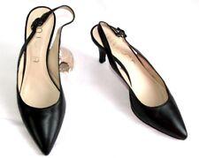 UNISA Sandales bouts pointus cuir noir 40 EXCELLENT ETAT