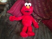 """SESAME STREET ELMO SOFT TOY PLUSH 14"""" EXCELLENT UNPLAYED WITH"""