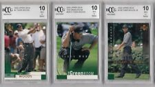 (3) card Lot 2002 Upper Deck Tiger Woods all BCCG 10 MINT