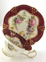 Vintage Teacup Saucer EB Foley Bone China Made in England Gold Gilt Footed S991