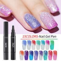 LEMOOC 5ml Glitter Thermal Color Changing Gel Polish Holographic Nail Art UV Gel