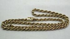 Very Nice Quality 9 Carat Gold Rope Twist Necklace