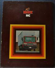 1978-1979 Mack Truck Model MC Catalog Sales Brochure Excellent Original