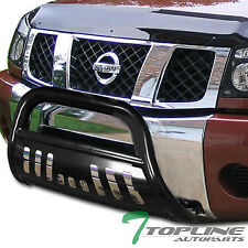 BLK HD STEEL BULL BAR BRUSH BUMPER GRILL GRILLE GUARD FOR 2004-2015 TITAN/ARMADA