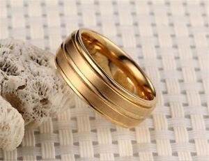 Fashion Titanium Band Men Women Ring Gift Wedding Engagement Size 6-12