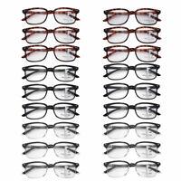 Progressive Multifocus Blue Resin Light Blocking Reading Glasses Eyewear Unisex