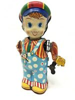 Jouet Automate Circus Boy Joustra Tole Antique Toy Collection