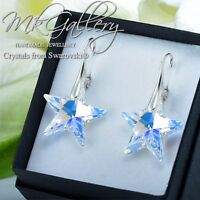 925 Silver Earrings/Necklace STAR - Crystal AB 20mm Crystals from Swarovski®