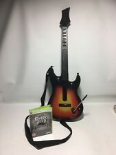 Guitar Hero Wireless Guitar Controller + Metallica Game - Xbox 360 - Tested!