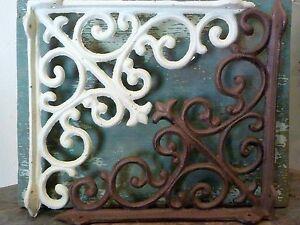 Cast Iron Set/2 Large Brackets Brace Wall Home Shelf Table Garden Outdoor Decor