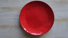 Kupfer Schale rot emailliert 60er Jahre vintage Emaillie